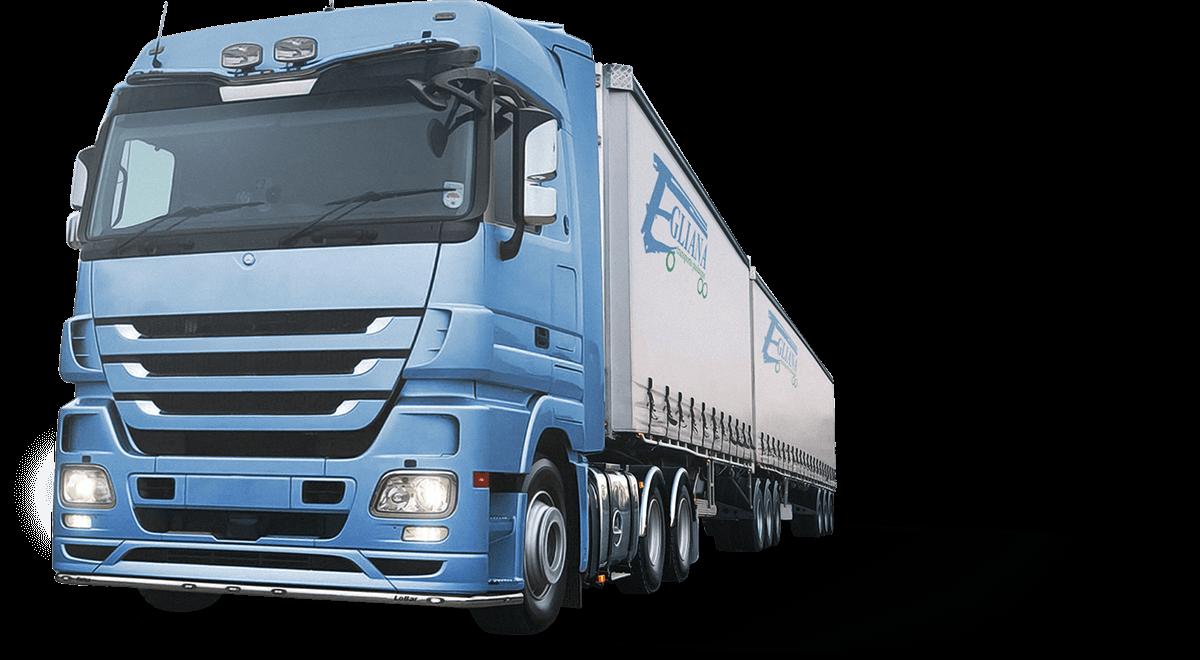 Egliana - Pilnų ir dalinių krovinių gabenimas